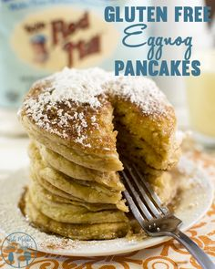 Gluten Free Eggnog Pancakes - These pancakes have that delicious eggnog taste for a perfect holiday breakfast! #BRMHolidays #CleverGirls