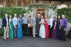 Fun photo with the bride, groom, and all the guests!