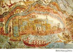 Fresco from Minoan Town
