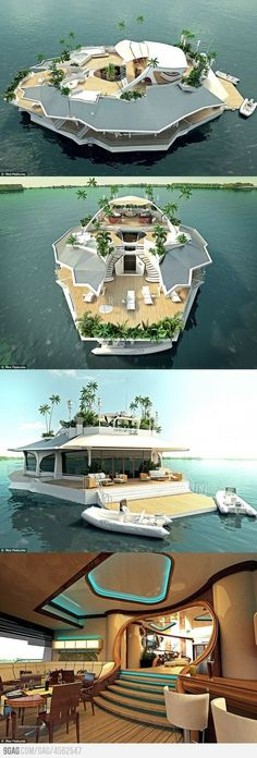 Funny pictures about Magnificent Floating Island Boat. Oh, and cool pics about Magnificent Floating Island Boat. Also, Magnificent Floating Island Boat photos. Future House, My House, Boat House, House Yacht, Water House, House Tent, Water Life, Floating House, Floating Island