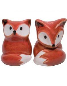 This Fox Salt Pepper Shaker Set Is Too Adorable