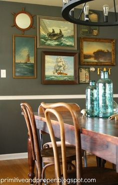 dining gallery wall