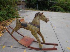 RARE Antique Primitive Folk Art Victorian Decor Rocking Horse C 1850 1895 | eBay