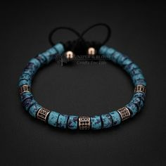 Deep Purple, Bracelets For Men, Handmade Bracelets, Beaded Bracelets, Leather Bracelets, Sliding Knot, Unique Gifts For Men, Ceramic Beads, Mykonos