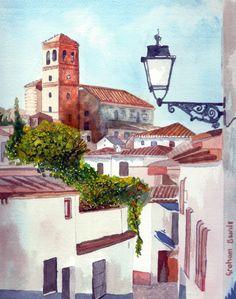 https://flic.kr/p/FHfw9C | Albaicin 4 | Albaicin, Granada, Spain, watecolour