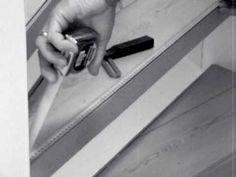 Leg je eigen laminaat (doe-het-zelf) op een open trap