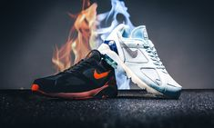 new product f7ad9 3beea Checkt das Air Max 180 Fire   Ice Pack bei 43einhalb Beste Turnschuhe,  Turnschuhe Nike
