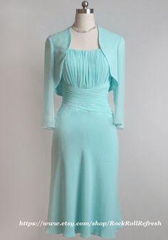 Aline Strapless Chiffon Mother of the Bride by RockRollRefresh, $128.00