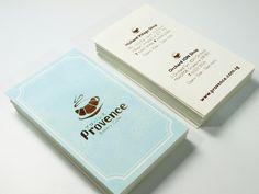 Rebranding Of Provence Bakery Cafe Letterpress Business Cardscool