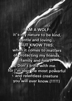 Many wolf hunters think wolves are these wretched, dangerous beasts. Wolves are usually weary of people and actually fear mankind. When they attack it is to protect themselves or their family Great Quotes, Quotes To Live By, Me Quotes, Motivational Quotes, Inspirational Quotes, Sister Quotes, Funny Quotes, The Words, Warrior Quotes