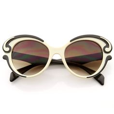 Designer Inspired Fashion Butterfly Baroque Sunglasses 8564