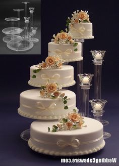 ... Great Wedding Cake Stands 5 Tier Cascading Wedding Cake Stand Stands 3 Tier Candle Stand How ...