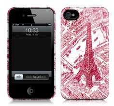 Cartolina iPhone case - Red Eiffel CASE405/505
