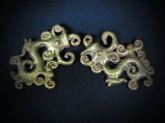 Borneo Dayak Brass Fire Dragon Ear by BorneoHunters on Etsy, $47.80