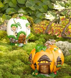 Miniature Fairy Garden Pumpkin House | Miniature Fairy Gardens