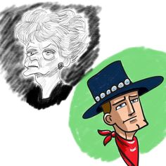 Monday Night Sketches #cowboy #oldlady #faces #drawing #illustration #instaart #artstagram #instagram #instagood #doodle #sketches