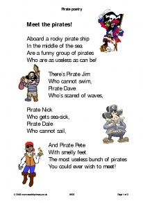 Pirate poem