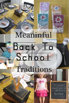 Try some of these Meanignful Back to School Traditions from Your Own Home Store http://www.yourownhomestore.com/meaningful-back-to-school/