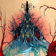 Alex Pardee, the Pop Surrealist of Today Alex Pardee, Creepy Houses, Mediums Of Art, Creepy Art, 2d Art, Art Google, Dark Art, Art Sketches, Surrealism