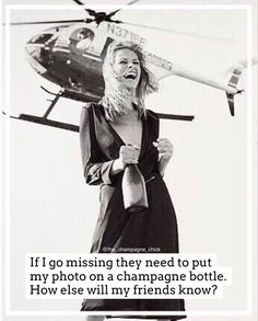 #champagnequote Champagne Quotes, Caption, My Photos, Bubbles, Wine, Humor, Lifestyle, Humour, Moon Moon