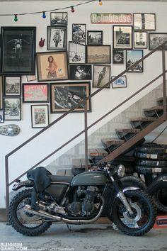 Tapiture Taps Of The Week 33 Photos B Details Garage Bike Motos Retro, Motos Vintage, Vintage Bikes, Vintage Motorcycles, Garage Bike, Man Cave Garage, Motorcycle Garage, Motorcycle Workshop, Custom Moto