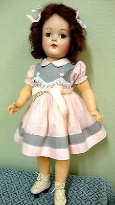 LATE-40s-VINTAGE-TONI-P-92-19-DOLL-BY-IDEAL-DRESSED-CLOTHES-HARD-PLASTIC