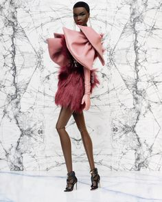 "Ldolls on Instagram: ""#OutOfSightNadja #SinuheGuzman gloves #HauntCoutureAtelier dress @gi0_lab earrings #NadjaRhymes #OutOfSightNadjaRhymes"" Leather Backpack, Lab, Gloves, Vogue, Backpacks, Couture, Dolls, Earrings, Beautiful"