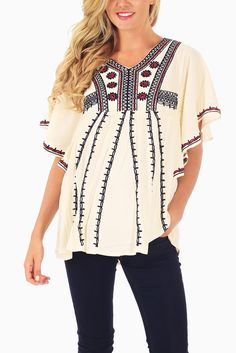 Ivory-Red-Navy-Embroidered-Maternity-Blouse