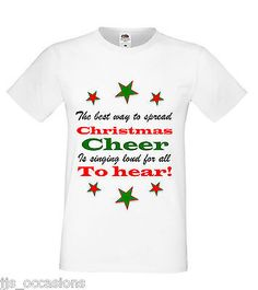 T-SHIRT WHITE FITTED TOP THE BEST WAY TO SPREAD CHRISTMAS CHEER GIFT IDEA LADIES