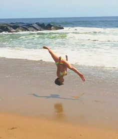 Me doin front aerials at the beach