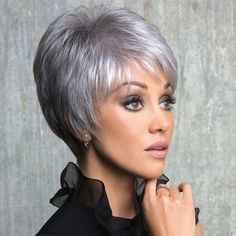 New Addition Rene of Paris Bobs For Thin Hair, Short Thin Hair, Short Grey Hair, Short Hair With Layers, Short Hair Cuts For Women, Pixie Haircut Thin Hair, Fine Hair Bangs, Curly Hair Cuts, Curly Hair Styles