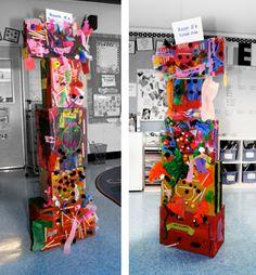 Totem poles...cool idea!