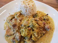 Thermosternchen: Curry Geschnetzeltes mit Brokkoli aus dem Ofenmeis...