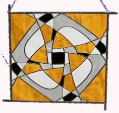 abstract hanging panel