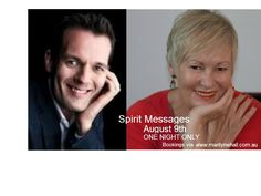 Michael Wheeler and Marilyn Whall are looking forward to meeting you this Saturday the 9th August in Sydney, Crows Nest Event.Spirit Messages tickets via www.marilynwhall.com.au