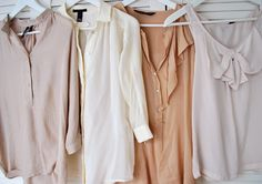 love love absolutely love the neutral colors & style of the tops.