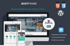 BootFrame - WordPress theme by rocksite.pro on @creativemarket