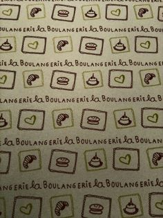 La boulangerie pattern illustration
