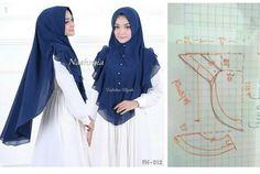 Hijab Niqab, Mode Hijab, Amazing Life Hacks, Hijab Styles, Beautiful Prom Dresses, Hijabs, Sewing Techniques, Hijab Fashion, Veil