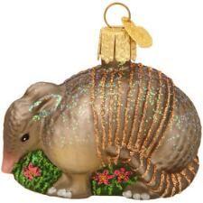Armadillo Glass Ornament