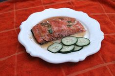Honey Glazed Ginger Salmon with Quick Pickles