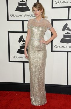 Singer Taylor Swift arrives at the 56th Grammy Awards at Staples Center on January 26, 2014 in Los Angeles, California.