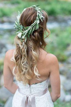Bride Portrait Flower Crown From Behind | Centerville-Estate-Wedding-Photographer-Chico-California-TréCreative