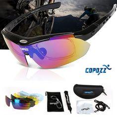 Copozz Brand Polarized Cycling Glasses 2017 Fishing Moutain Riding Bike MTB Anti UV Bicycle Glasses Goggles Myopia 5 Lens