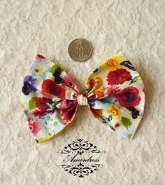 FABRIC BOW Craft Supplies 4.5x3 for Hair Clip Head by Amordress, $2.00
