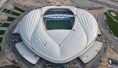 Al Janoub Stadium by Zaha Hadid Architects. Photograph courtesy of Supreme Committee for Delivery & Legacy