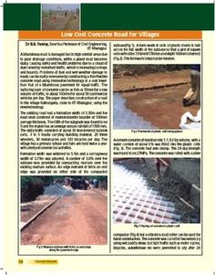 Low Cost Concrete Road For Villages   Pmgsy