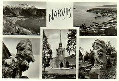 Nordland fylke Narvik 5-bilders kort 1960-tallet Utg Oppi