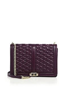 Rebecca Minkoff Quilted Love Jumbo Leather Crossbody Bag