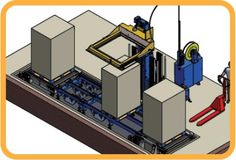 Horizontal Automatic Strapping Machine for pallets with Corner Applicator